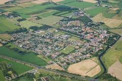 Luftfoto-af-Gredstedbro-by-i-Sønderjylland