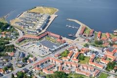 Luftfoto-af-Frederikssund-Lystbådehavn-Sjælland