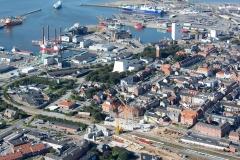 Broen-Shoppingcenter-Esbjerg-visualiseret-beliggenhed-fra-luften